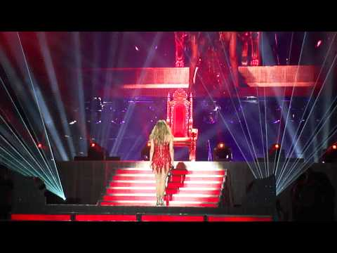 Клипы - Jennifer Lopez LIVE sitting on her throne (Dance Again Tour) O2 Arena London