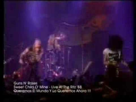 Клипы - Guns N' Roses - Sweet Child O' Mine [Live At The Ritz '88]