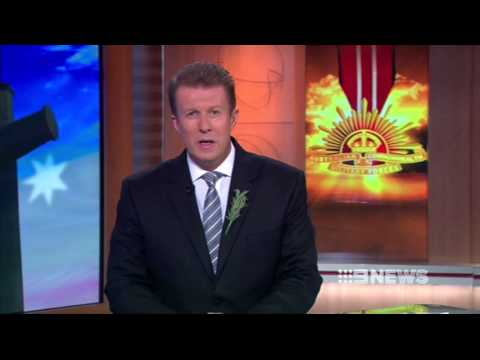 День АНЗАК - Nine News Special - ANZAC Day 2013: Gallipoli and Villers Bretonneux Dawn Serivce Opener [25.04.13]